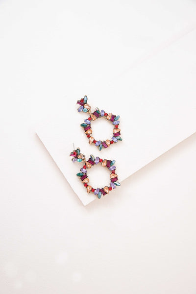 CAPTIVATING BEAUTY MULTI COLOR EARRINGS