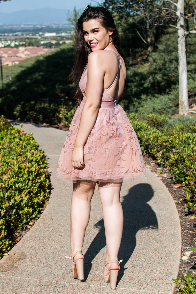 PRE-ORDER: MYTHICAL KIND OF LOVE BLUSH MINI DRESS