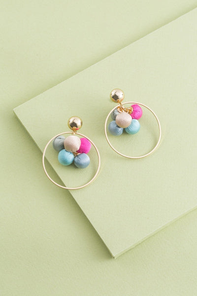 BEST COLORS ROUND EARRINGS