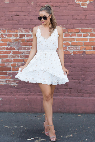 JUST LIKE A STAR WHITE DRESS