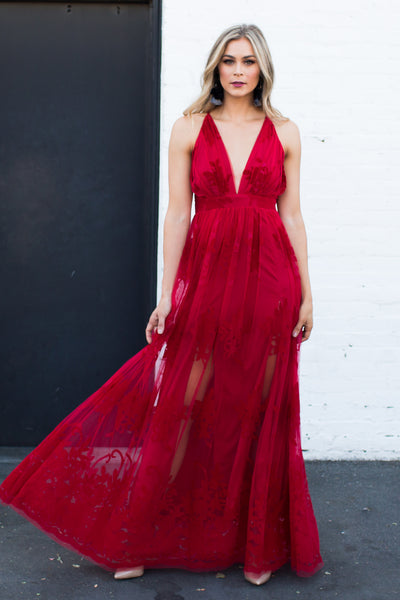 MYTHICAL KIND OF LOVE RED MAXI