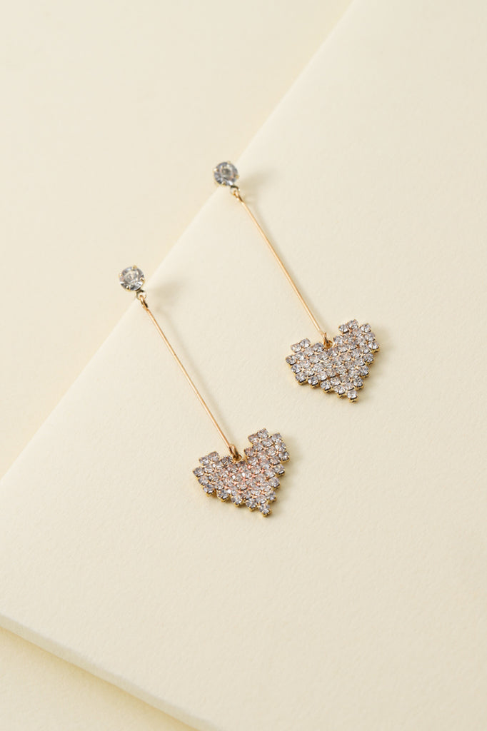 A HEART OF GOLD DROP EARRINGS