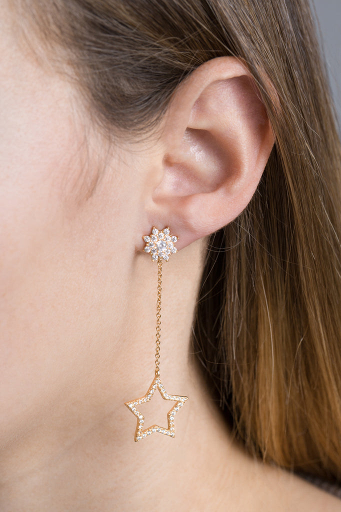 MIDNIGHT MOON AND STAR EARRINGS (14K)