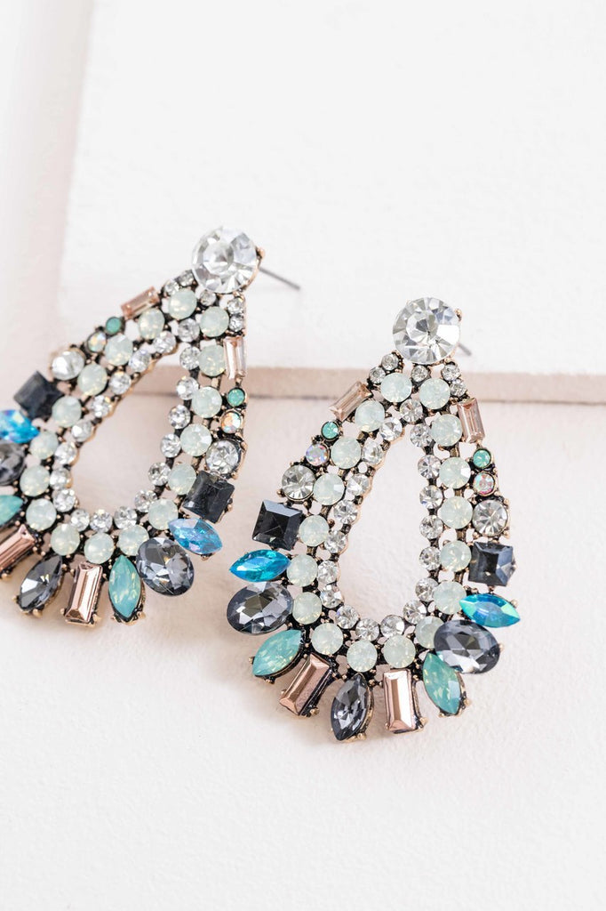 BLUE TEAR STATEMENT EARRINGS