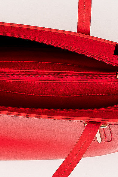 Bright Red Oversized Liana Handbag
