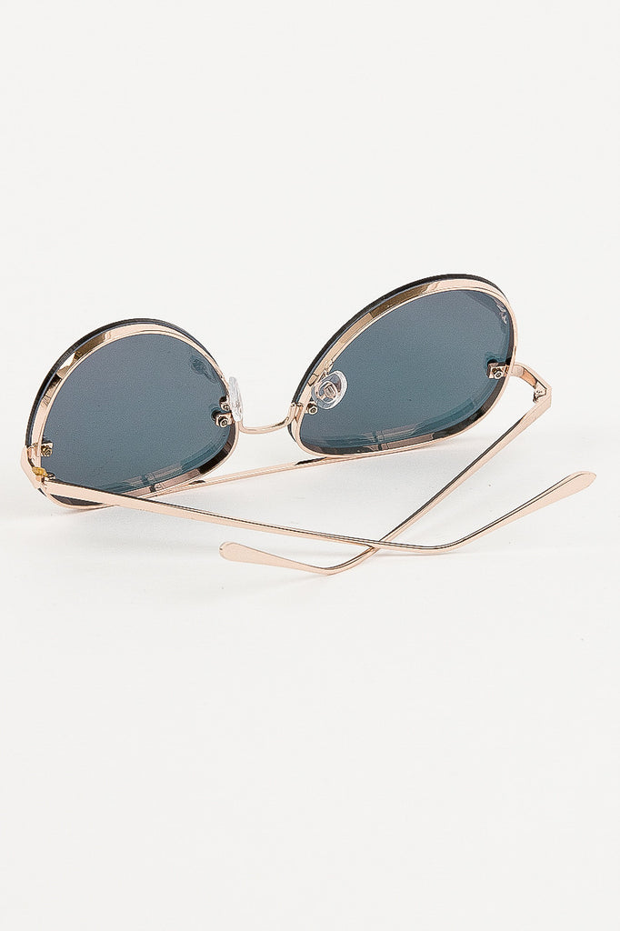 Los Cabos Reflective Sunglasses in Rose Gold