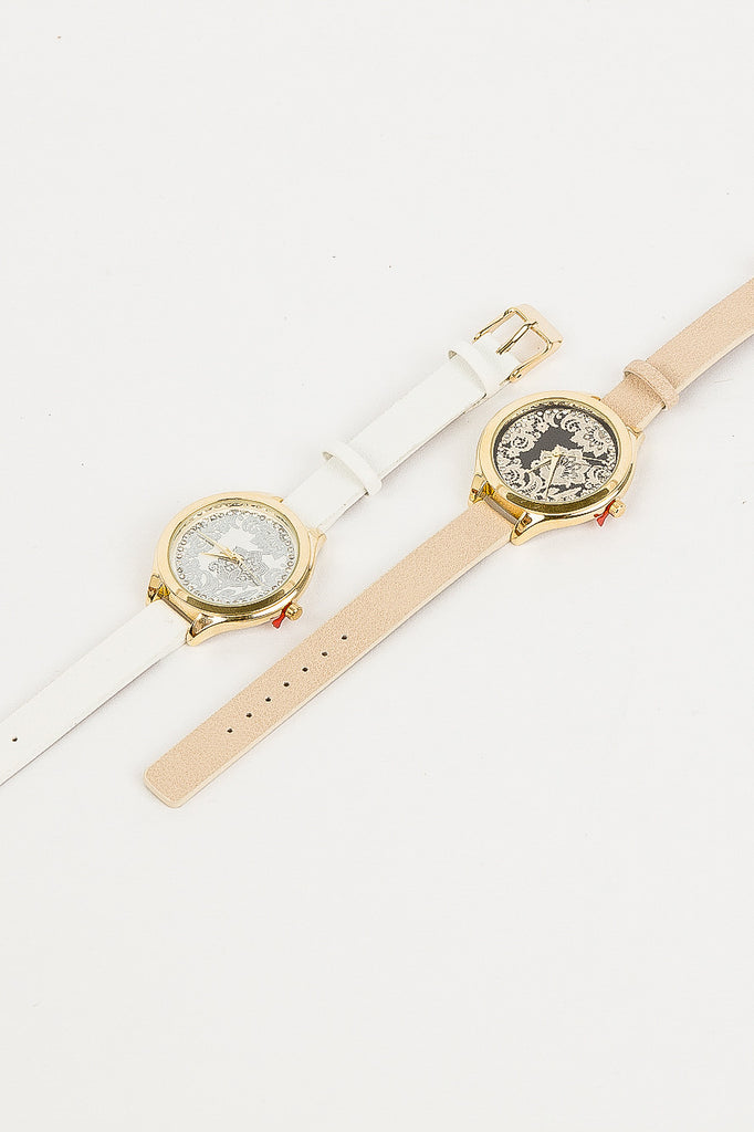 Nude and Gold Nelly Watch