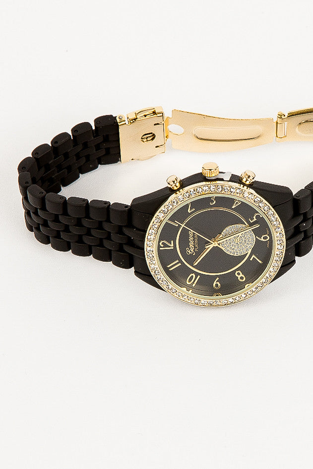 Black and Gold Brielle Watch