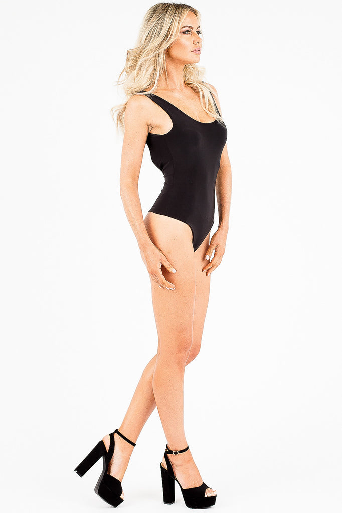 Black Scoop Neck Loria Bodysuit