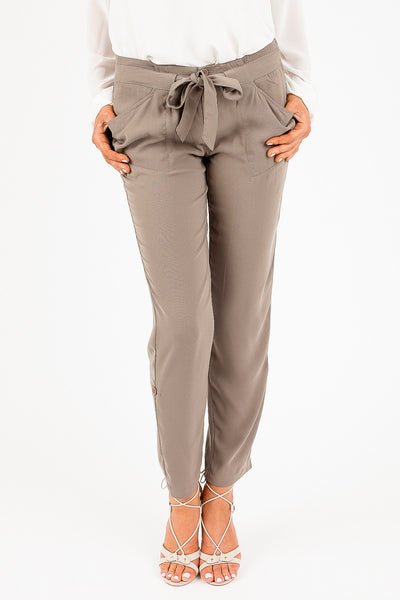 Dark Sage Porsha Crop Pants