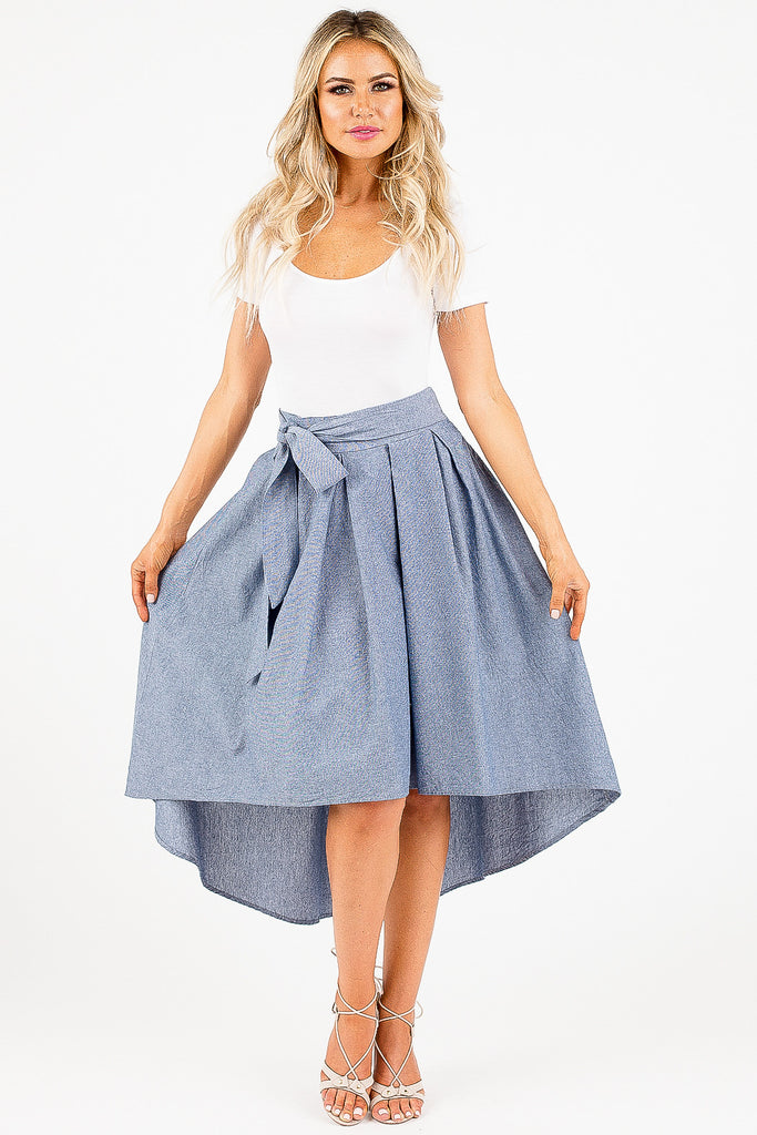 Feminine Denim Francisca Skirt