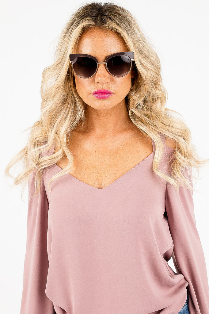 Seaside Sunglasses in Dark Purple