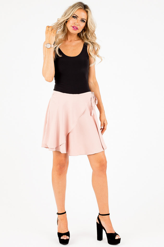 Pink Summertime Wrap Skirt