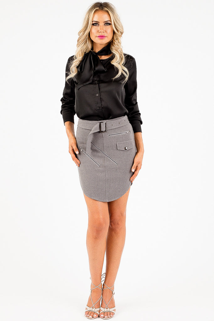 Heather Grey Figure Skirt