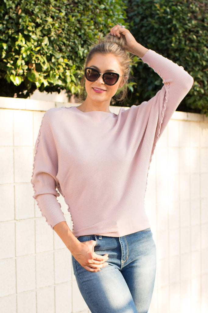 PRE-ORDER: CHIC & CUTE BLUSH SWEATER