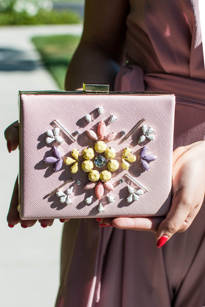 PRE-ORDER: BLUSH ME LUXURY CLUTCH