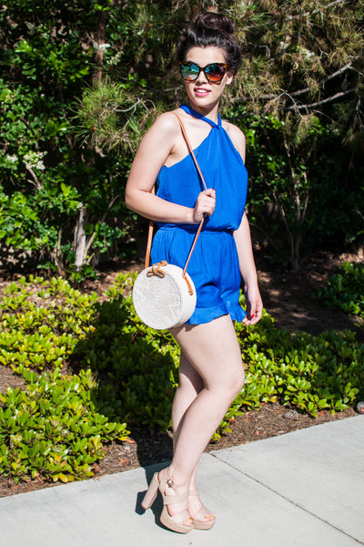 BLUE IS MY COLOR ROMPER
