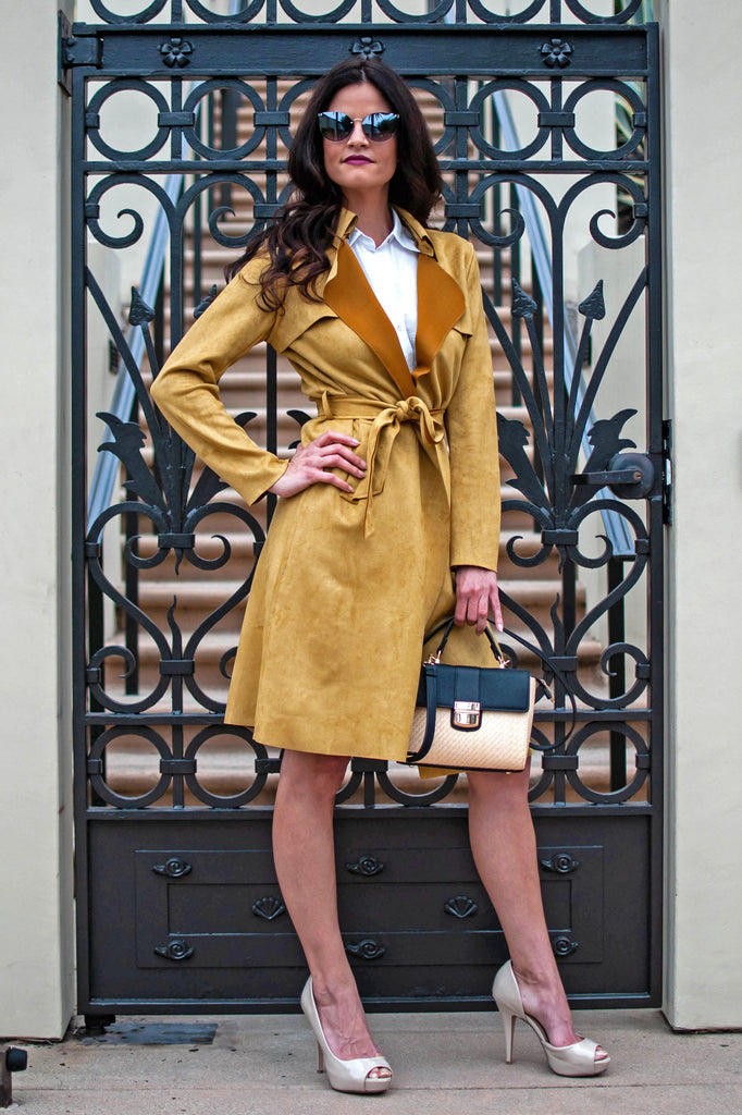 PRE-ORDER: UPTOWN GIRL MUSTARD TRENCH COAT