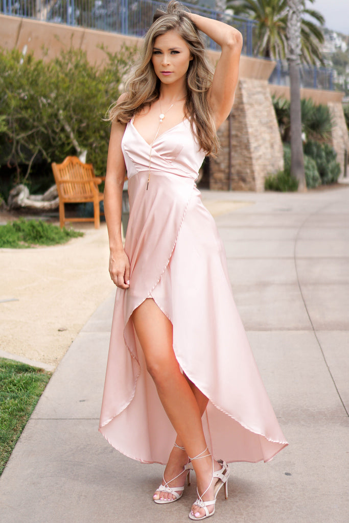 BLUSH SILKY MAGICAL DRESS