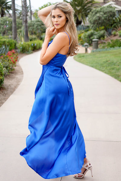 BLUE SILKY MAGICAL DRESS