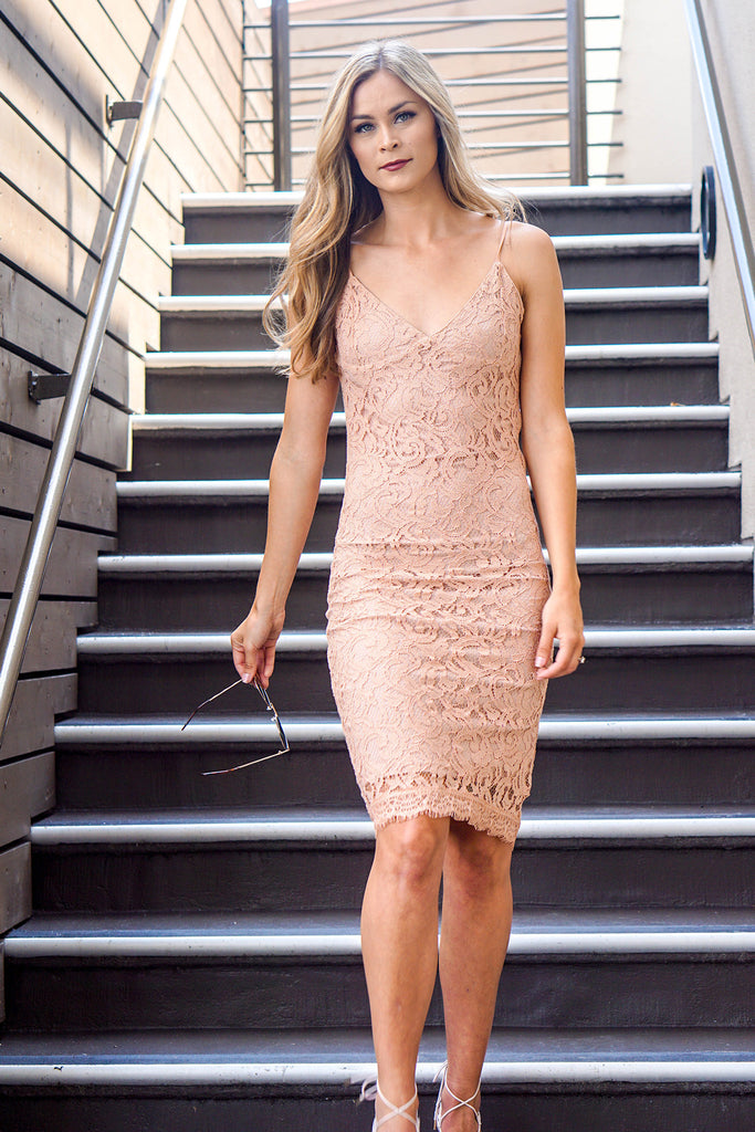 Nude Lace Laila Dress
