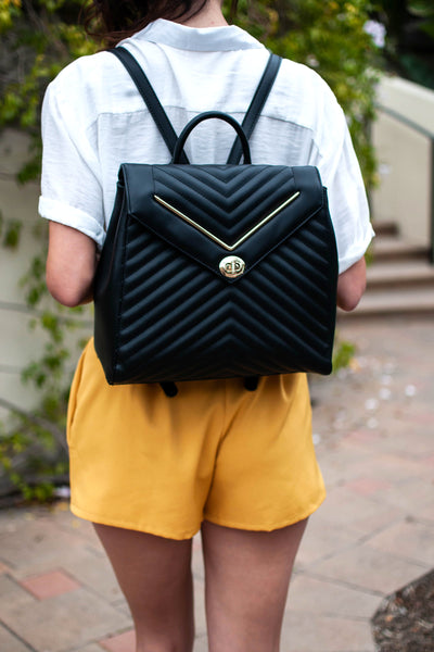PRE-ORDER: POP OF CHEVRON BLACK BACKPACK