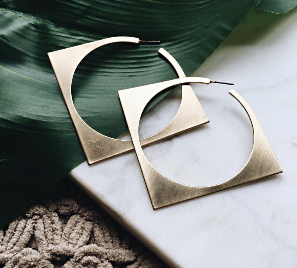 Gold Geometric Susanna Earrings
