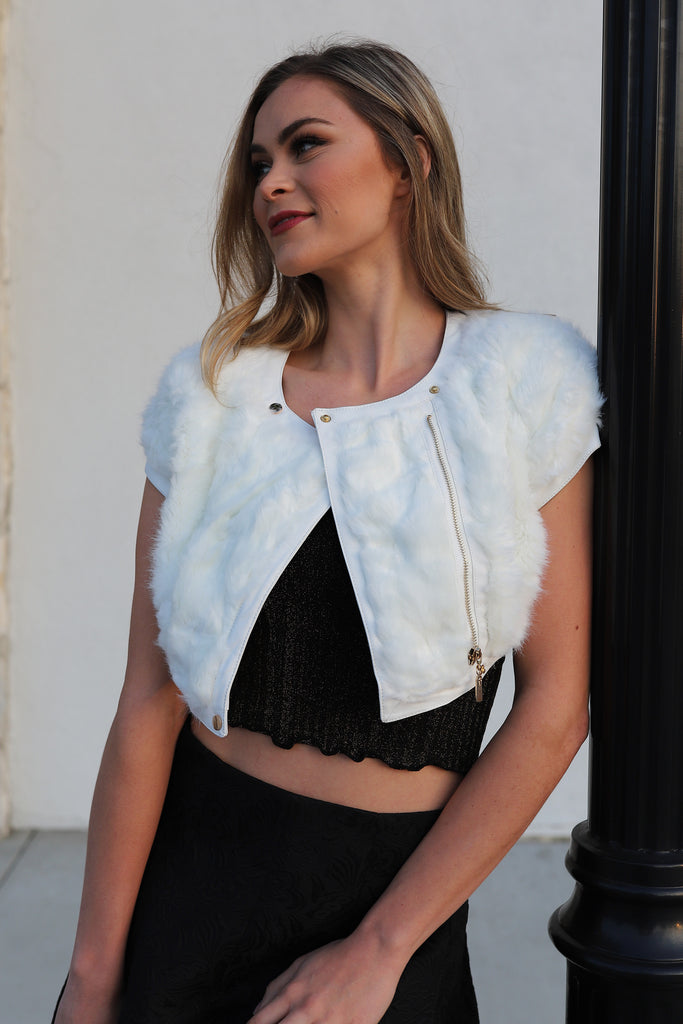 CRUSHING ON YOU FAUX FUR VEST