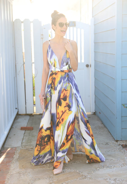 HEAVENLY HARBOR OF LOVE MAXI DRESS