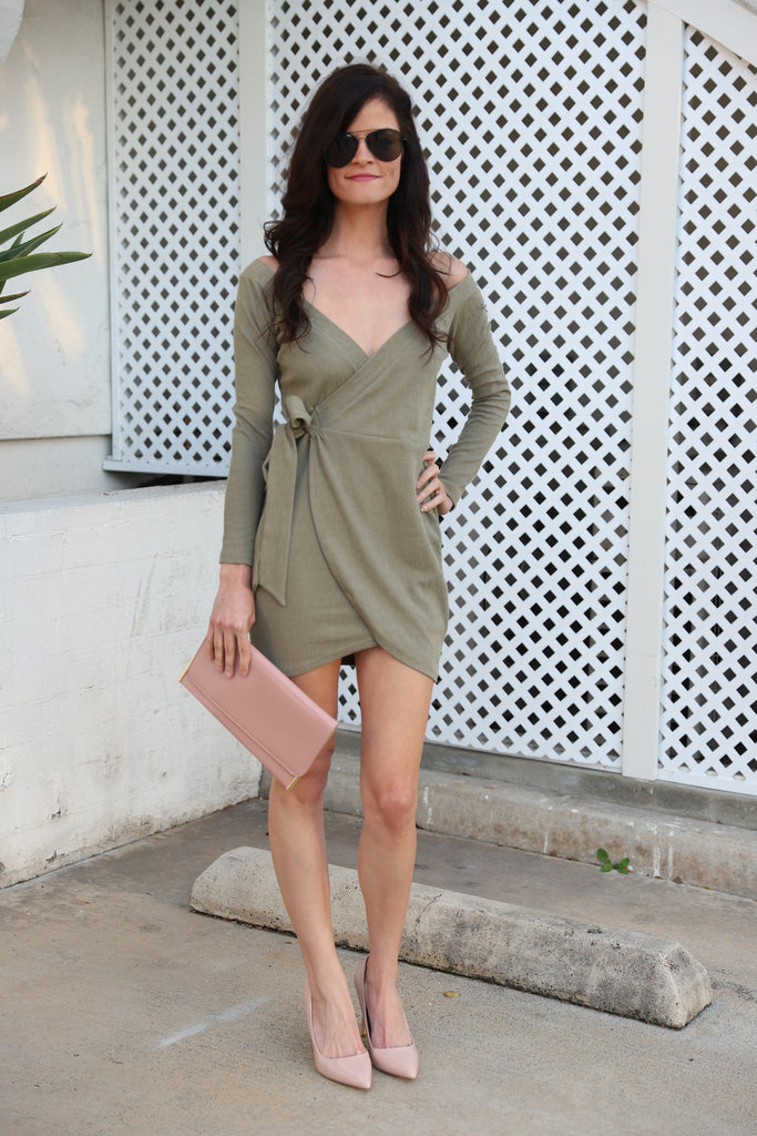 BORN TO BE STYLISH OLIVE DRESS