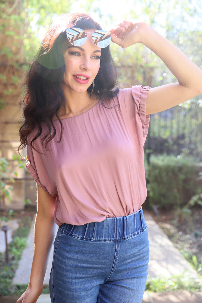 BEST YET TO COME MAUVE TOP