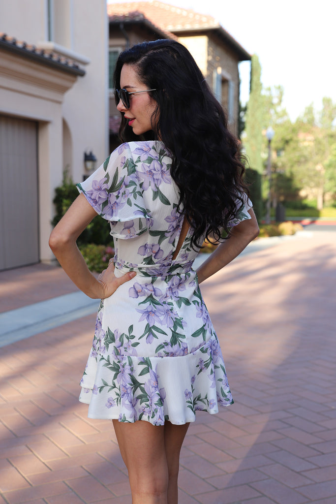 LOVE SONG FLORAL PRINT DRESS