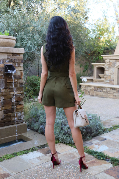 NICE TO MEET YOU OLIVE ROMPER
