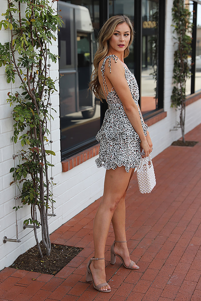 LIFE OF THE PARTY ANIMAL PRINT DRESS