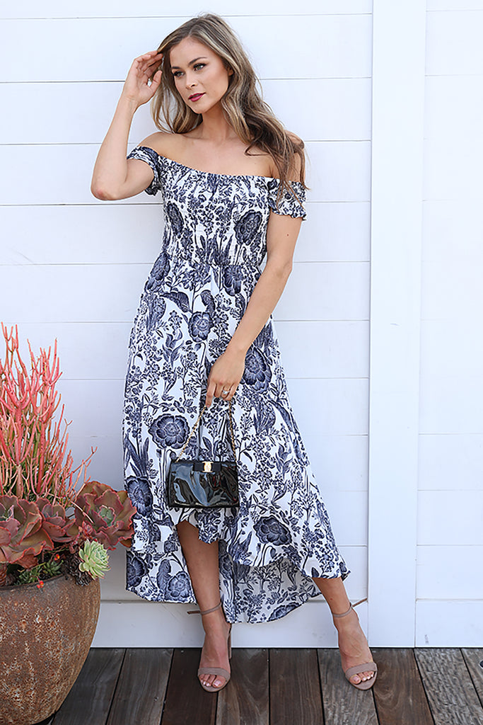PRE-ORDER: SWEET SONG NAVY AND WHITE DRESS