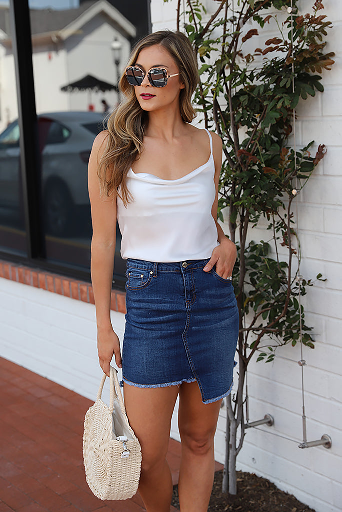 HEAVEN AND EARTH DENIM SKIRT