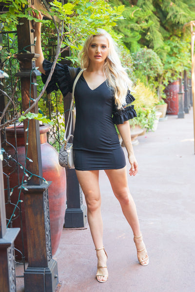 LIFETIME LOVE BLACK MINI DRESS
