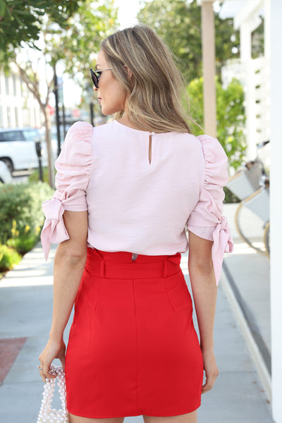 SECRETS OF FASHION BLUSH TOP