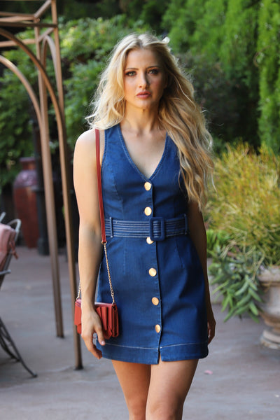 BELIEVE IN LOVE DENIM DRESS