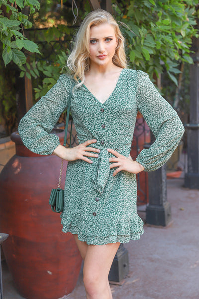 VACATION MOOD GREEN DRESS