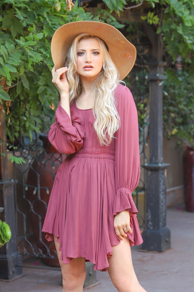 SOMEONE TO ADORE MAROON DRESS