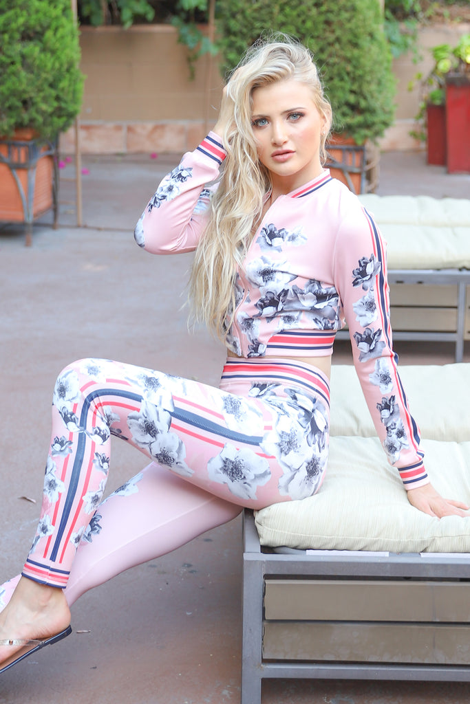 PASSIONATE LOVER FLORAL BLUSH PANTS