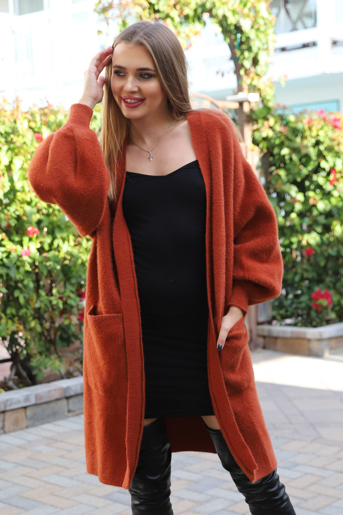 PRE-ORDER: BETTER COZY OVERSIZE RUSTY CARDIAGN