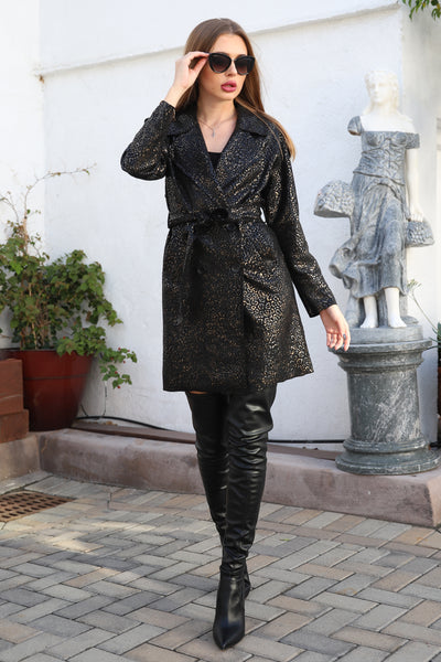 UPTOWN DIVINE BLACK TRENCH COAT