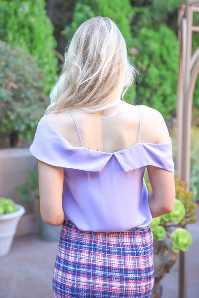 SECRET KISSES LAVENDER TOP
