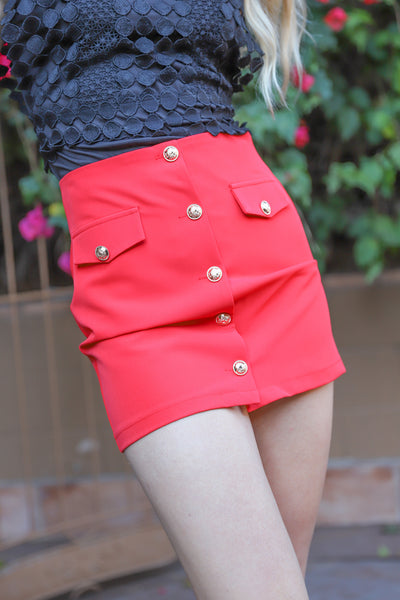 SECRETS OF FASHION RED SKIRT