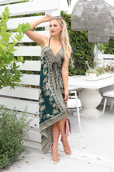 PRE-ORDER: BE MY BABY GREEN MAXI DRESS