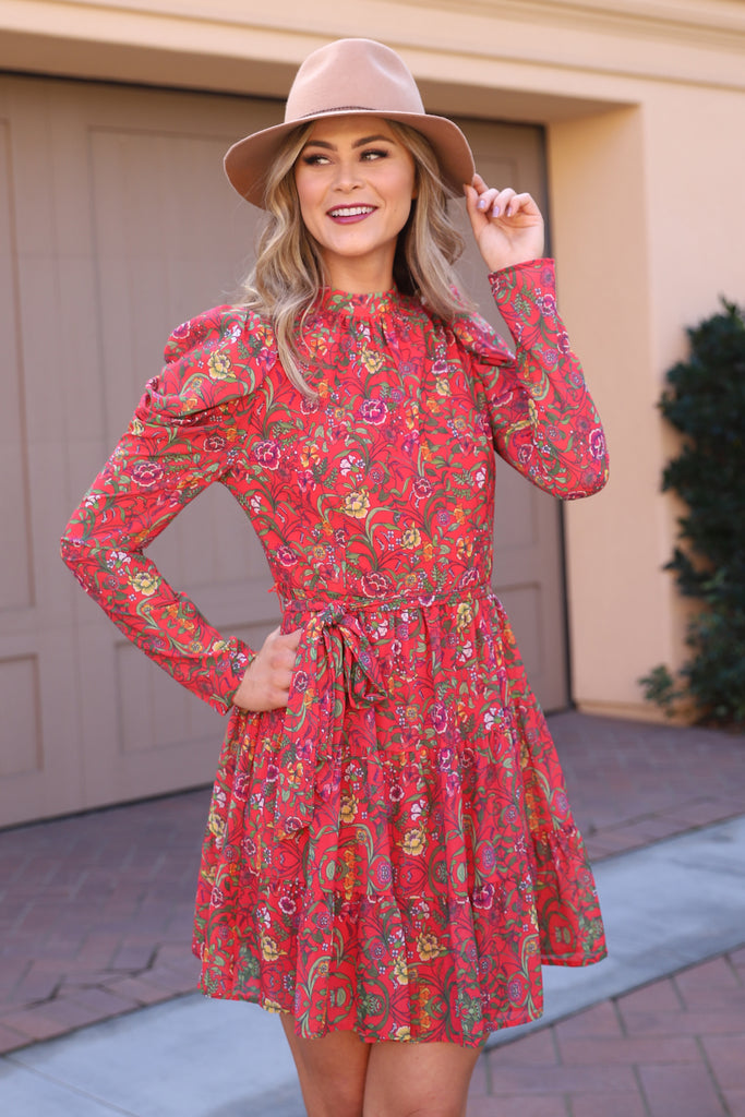KEEP GOING PINK FLORAL DRESS