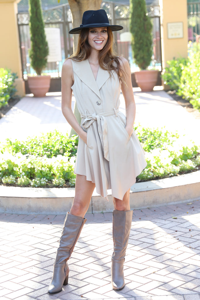 FOREVER YOUR FASHIONISTA KHAKI VEST