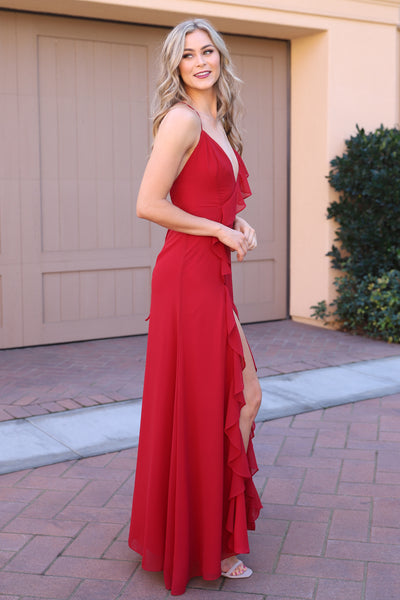 DIVINE BEAUTY MAXI WINE DRESS
